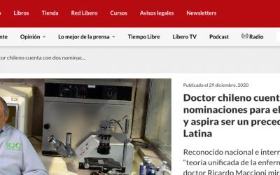 Doctor chileno cuenta con dos nominaciones para el Nobel de Medicina y aspira ser un precedente para América Latina