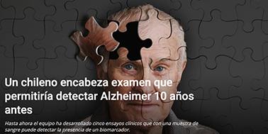 Un chileno encabeza examen que permitiría detectar Alzheimer 10 años antes