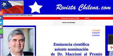 Eminencia científica asiente nominación de Dr. Maccioni al Premio Nobel