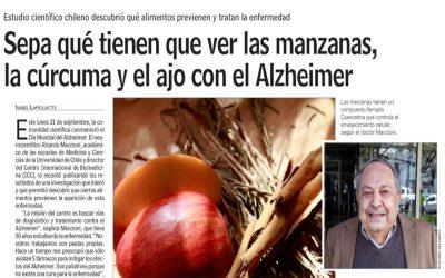 Sepa qué tienen que ver las manzanas, la cúrcuma y el ajo con el Alzheimer.