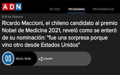 Ricardo Maccioni, el chileno candidato al premio Nobel de Medicina 2021, reveló como se enteró de su nominación.