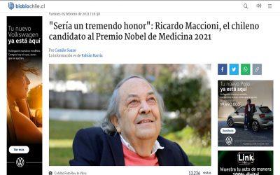 """""""Sería un tremendo honor"""": Ricardo Maccioni, el chileno candidato al Premio Nobel de Medicina 2021."""