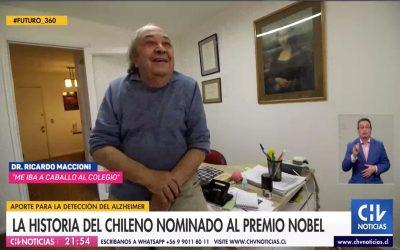 CNN/CHV Noticias Central , La historia del chileno nominado al premio Nobel.