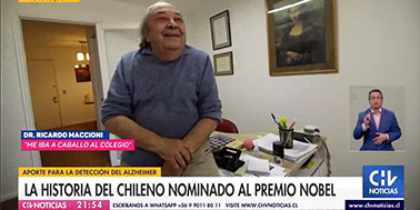 CNN/CHV Noticias Central , La historia del chileno nominado al premio Nobel.