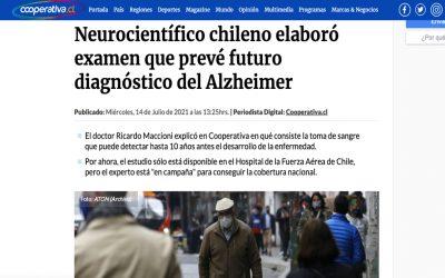 Neurocientífico chileno elaboró examen que prevé futuro diagnóstico del Alzheimer