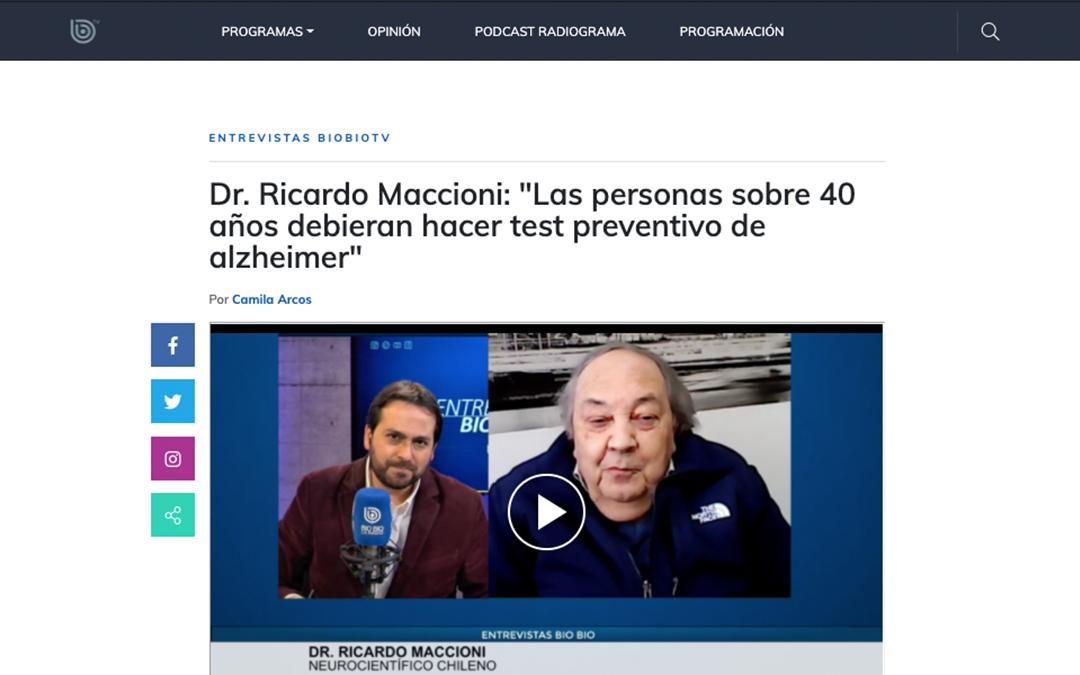"""Dr. Ricardo Maccioni: """"Las personas sobre 40 años debieran hacer test preventivo de alzheimer"""""""