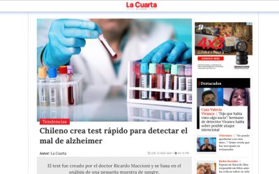 Chileno crea test rápido para detectar el mal de alzheimer
